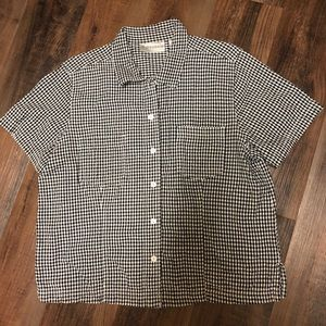 ⬇️sale⬇️Black gingham short sleeve shirt